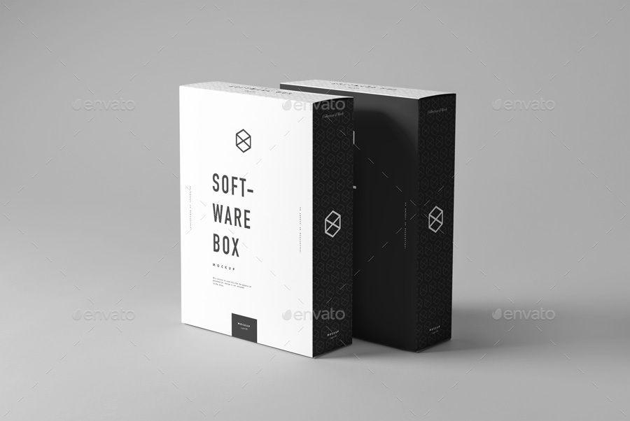 Software Box Mock Up Free Packaging Mockup Box Mockup Mockup Design