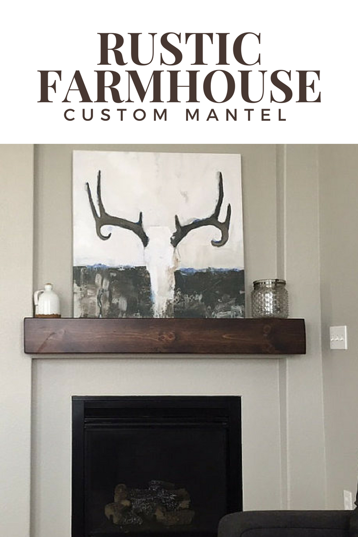 Rustic farmhouse style wooden mantel affiliate rustic modern
