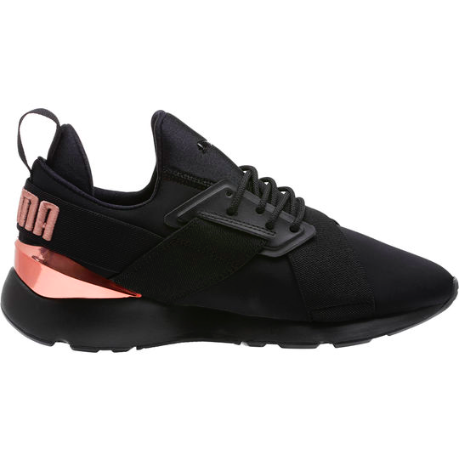 hot sale online ada54 4ca41 Puma Muse Meta Women Sneakers, Black Rose Gold  women ssneakers