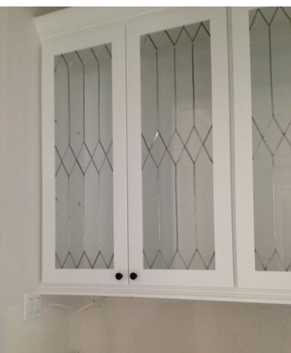 Faux Leaded Glass Design Glass Cabinet Doors Glass Kitchen
