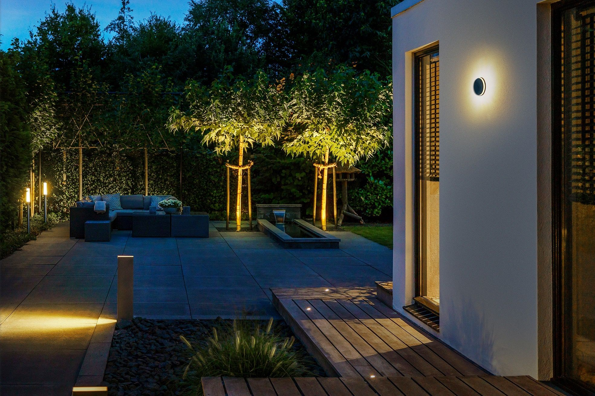 Lightpro 12V Topaz 3W LED IP44 Outdoor / Garden Wall Light