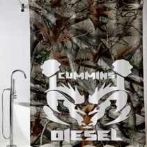Cummins Diesel Camo Shower Curtain