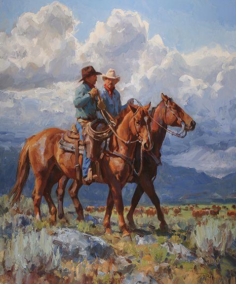 """Good Conversation"" by Jason Rich (Cowboy Artist)"