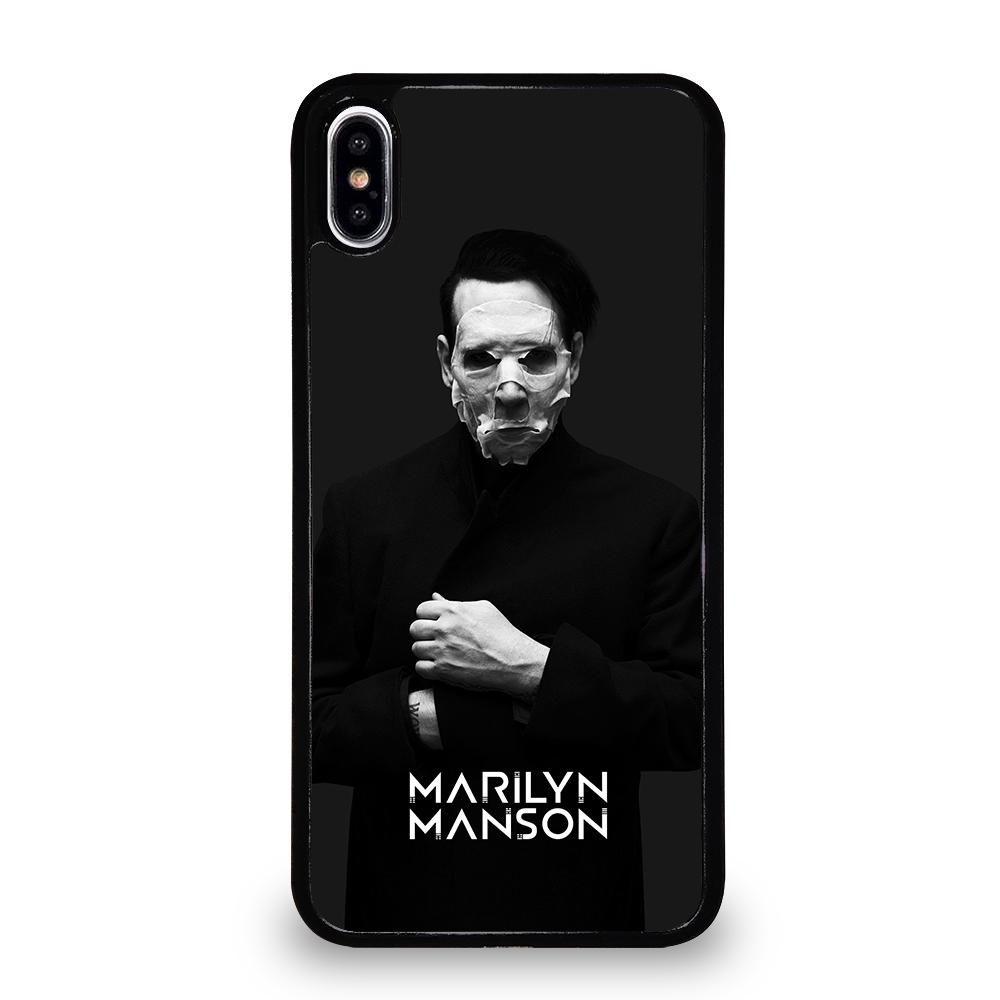 MARILYN MANSON 3 iPhone XS Max Case - White / Plastic