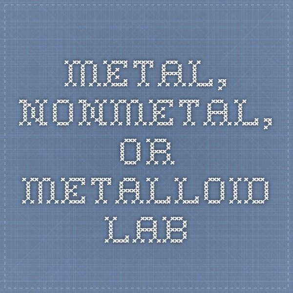 metal nonmetal or metalloid lab - Mastering The Periodic Table Activity 5 Nonmetals Word Find