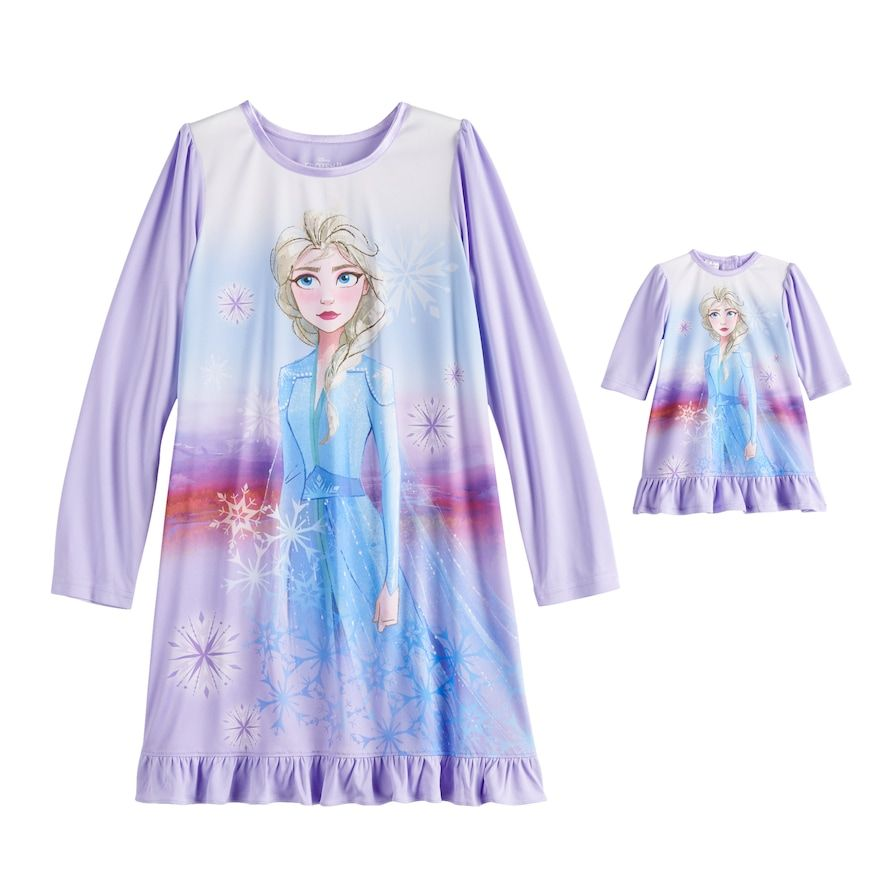 Frozen Multi Disney Elsa Nightshirt for Girls