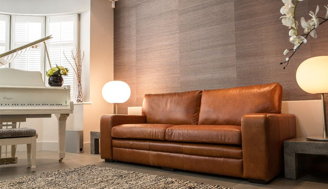 Light Brown Leather Sofa Elhomes