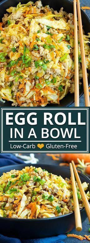 Egg Roll in a Bowl Recipe (Paleo) | This Egg Roll in a Bowl recipe is loaded with Asian flavor and is a Paleo, Whole30, gluten-free, dairy-free and keto recipe to make for an easy weeknight dinner. From start to finish, you can have this healthy and low-carb dinner recipe ready in under 30 minutes! |