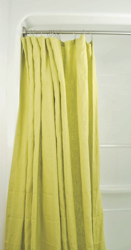 This Chartreuse Shower Curtain By Life Without Plastic Is Made From Naturally Mold Resistant Hemp Plus Because One Of The Strongest Natural