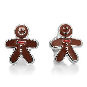 gingerbread man jewelry | Amazon.com: 925 Sterling Silver Rhodium Plated Gingerbread Cookie Man ...