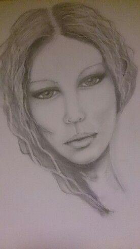 Lady pencil drawing by www.facebook.com/paulajarmanartwork