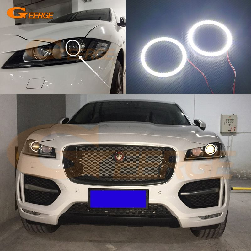 For Jaguar F Pace 2016 2017 Xenon Led Headlight Excellent Led Angel Eyes Ultra Bright Illumination Smd Led Angel Eyes Kit Led Angel Eyes Jaguar Angel Eyes