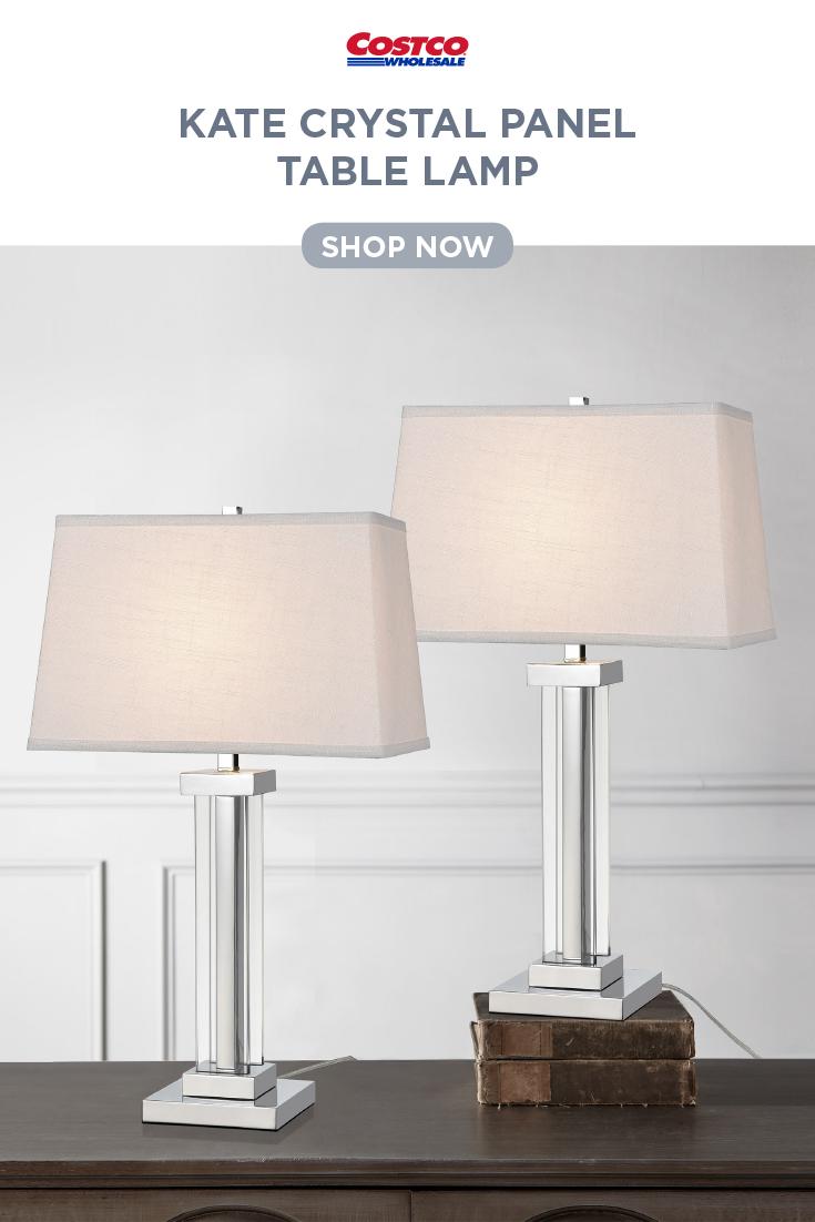 Kate Crystal Panel Table Lamp 2pk Polished Chrome Lamp Polished Chrome Table Lamp