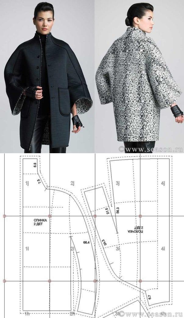 Выкройки пальто женское короткое фото тип