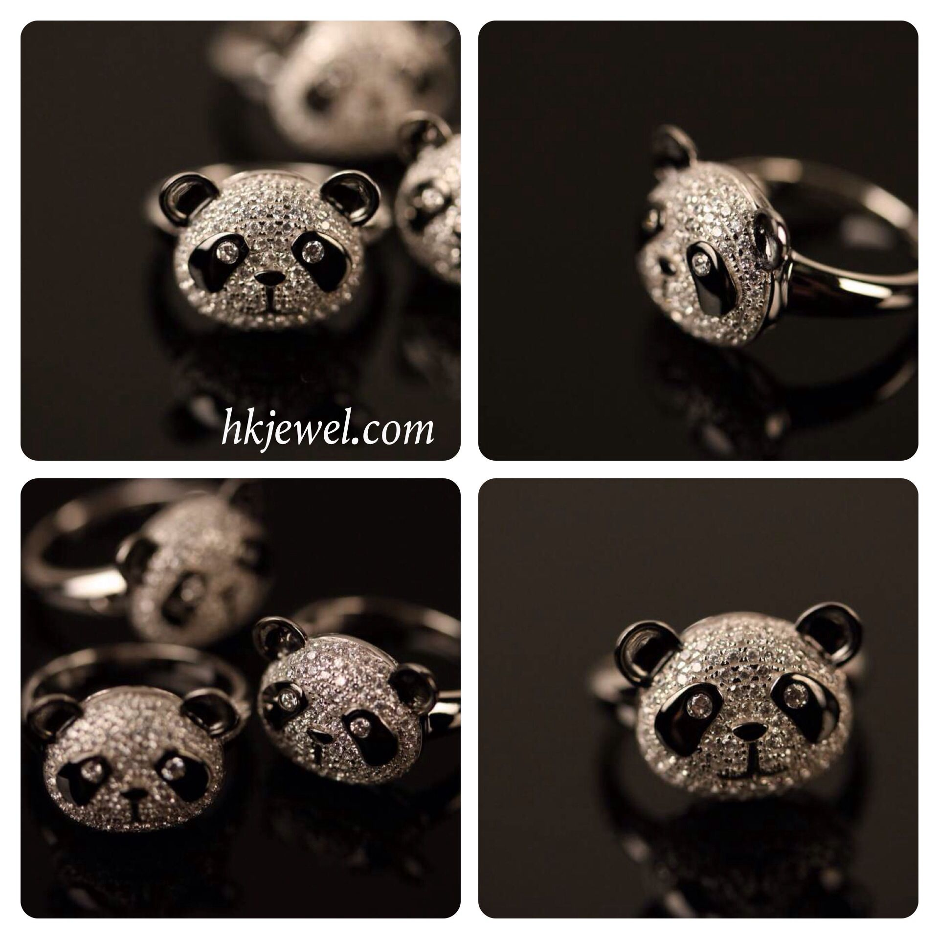 New arrival panda rings very cute design want to have one contact