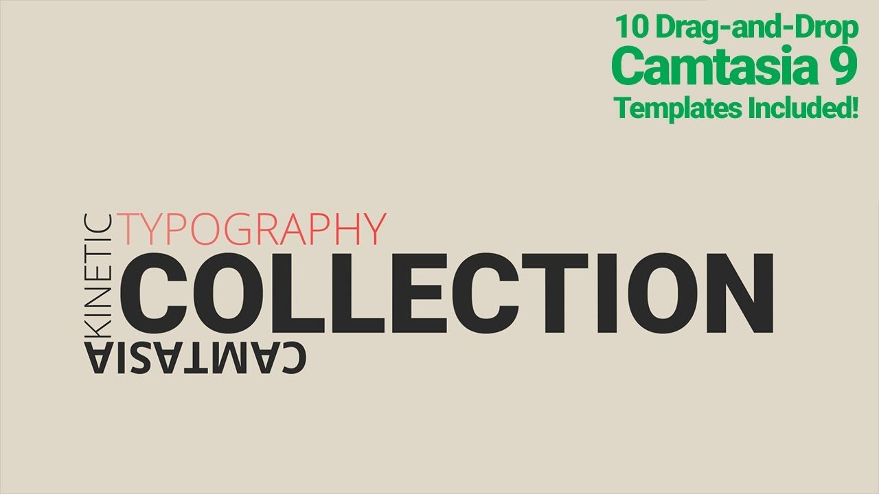 Kinetic Typography Camtasia 9 Template Collection | Camtasia ...