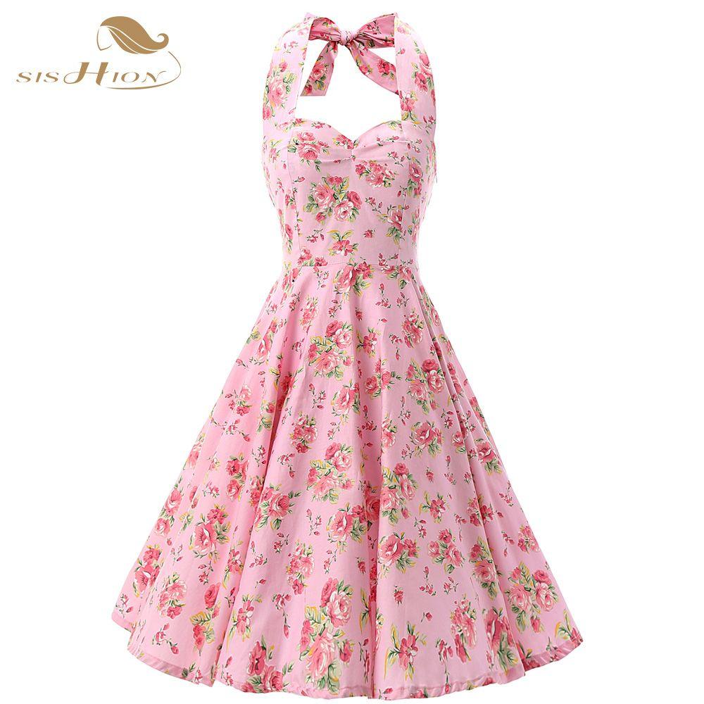 US $32.03] & SISHION Elegant Pin Up Vestidos Plus Size Vintage ...