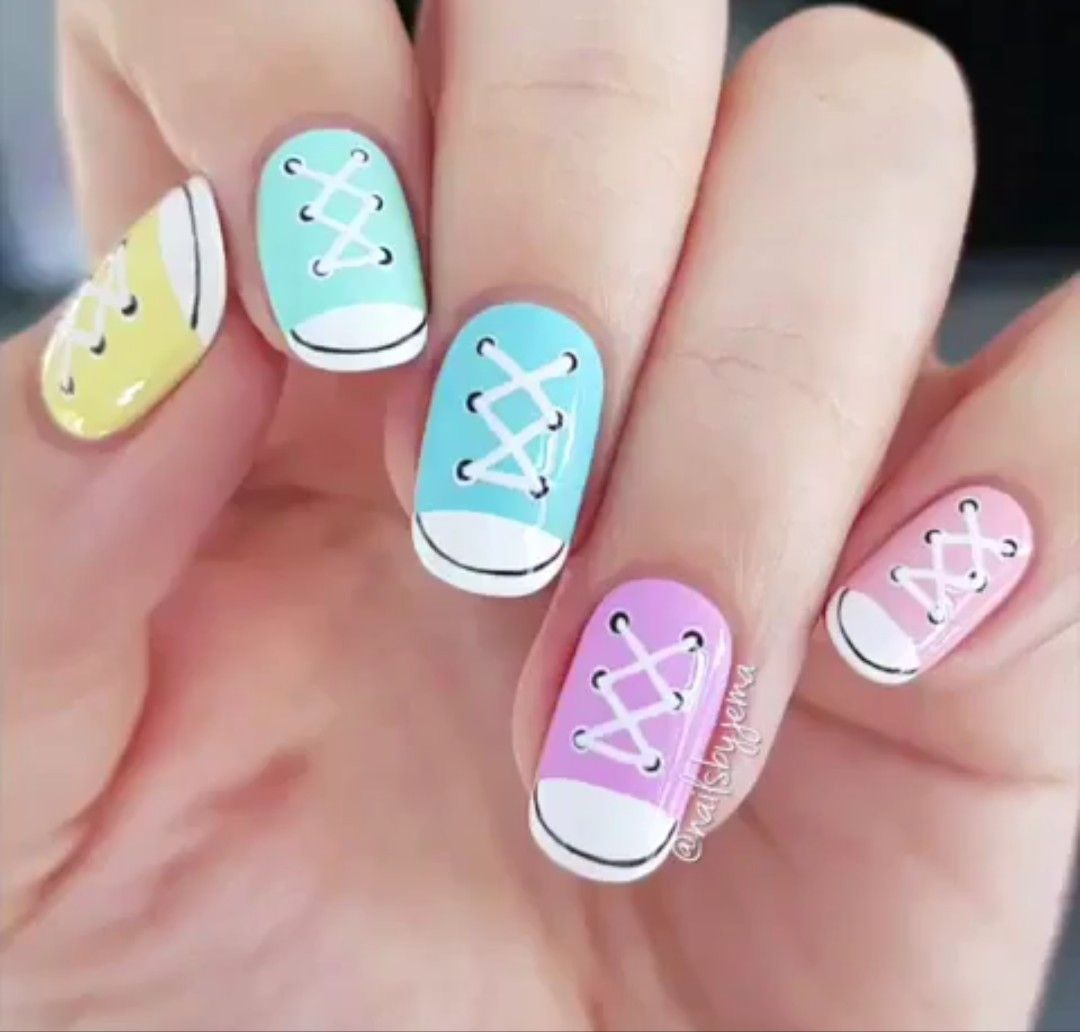 Nail Art Couture Converse Nail Art: Converse Nails, Best Nail Art Designs
