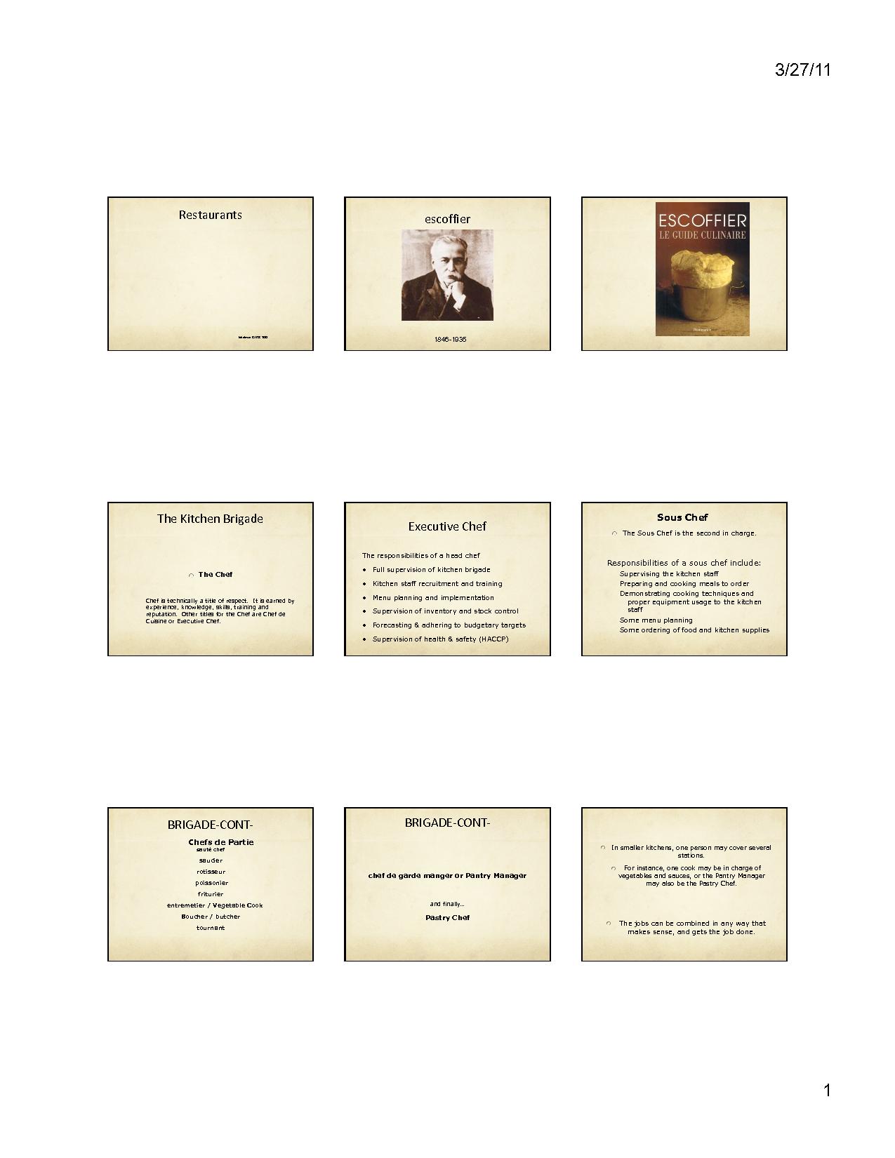chef brigade chart - Google Search | Auguste Escoffier, Legend ...