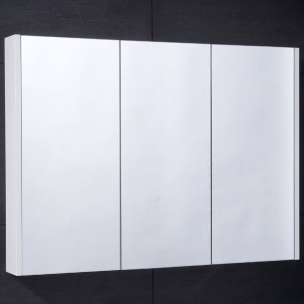Aspen 90cm 3 Door White Mirror Cabinet Product Code 7061