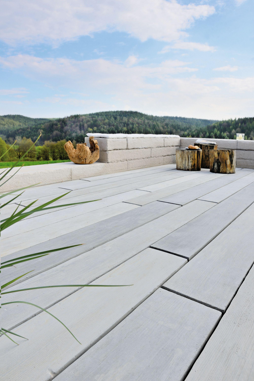 Terrassendiele Aus Beton In Verbluffender Holzoptik Terrasse In