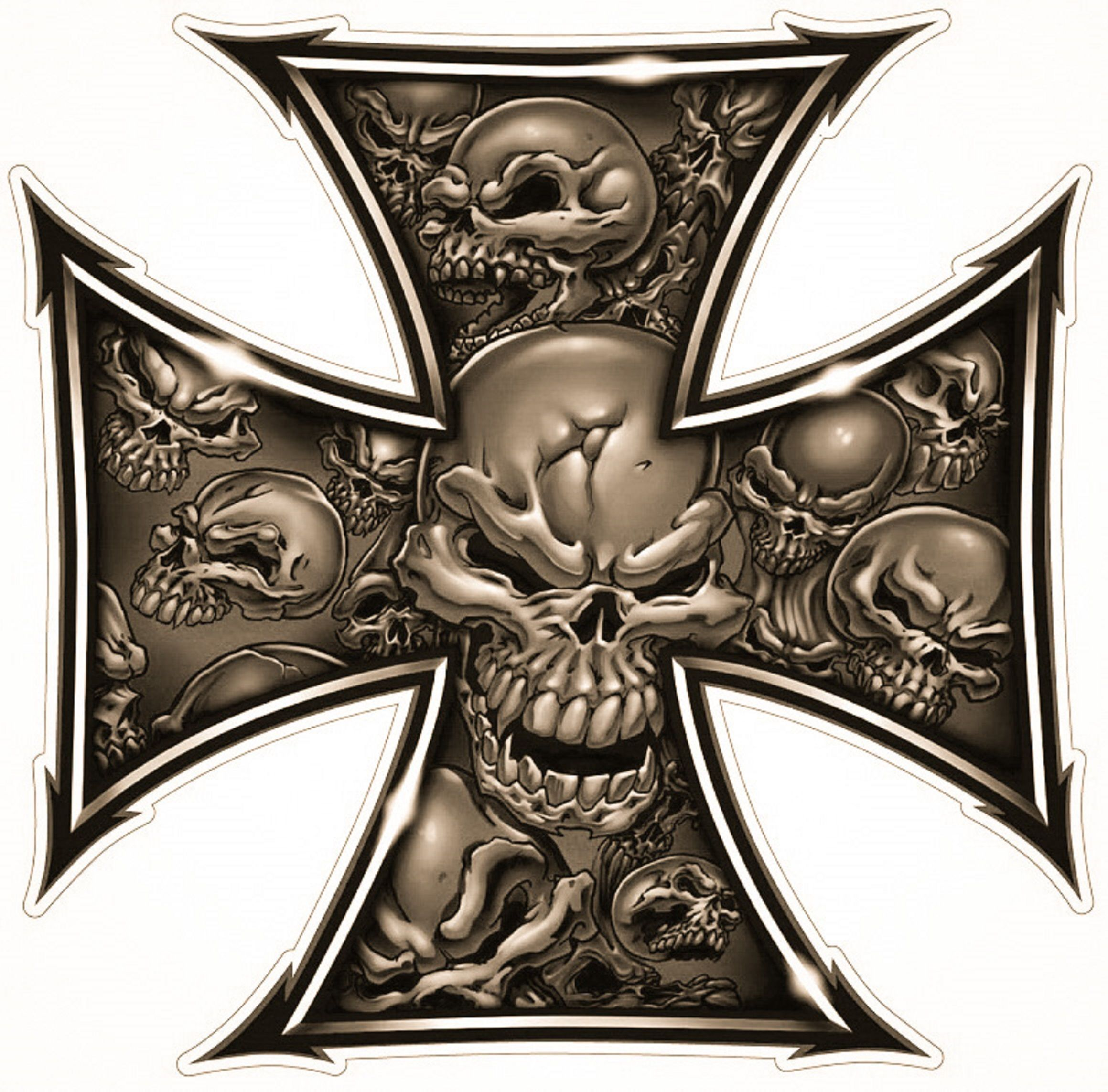 Iron Cross | Tattoos in 2019 | Skull art, Skull tattoos, Skull