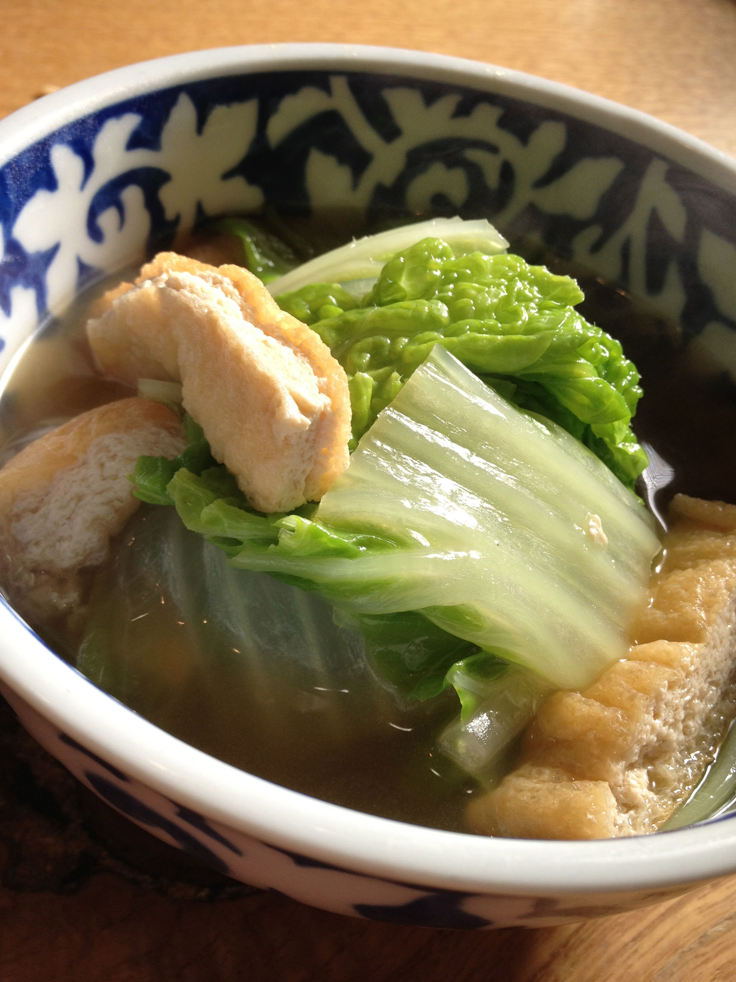 Obanzai Kyoto (Boiled Hakusai Cabbage & Fried Tofu)