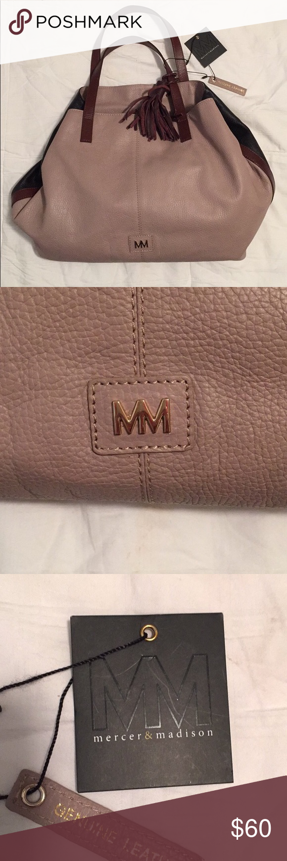 Nwt Mercer Madison Leather Handbag Purse
