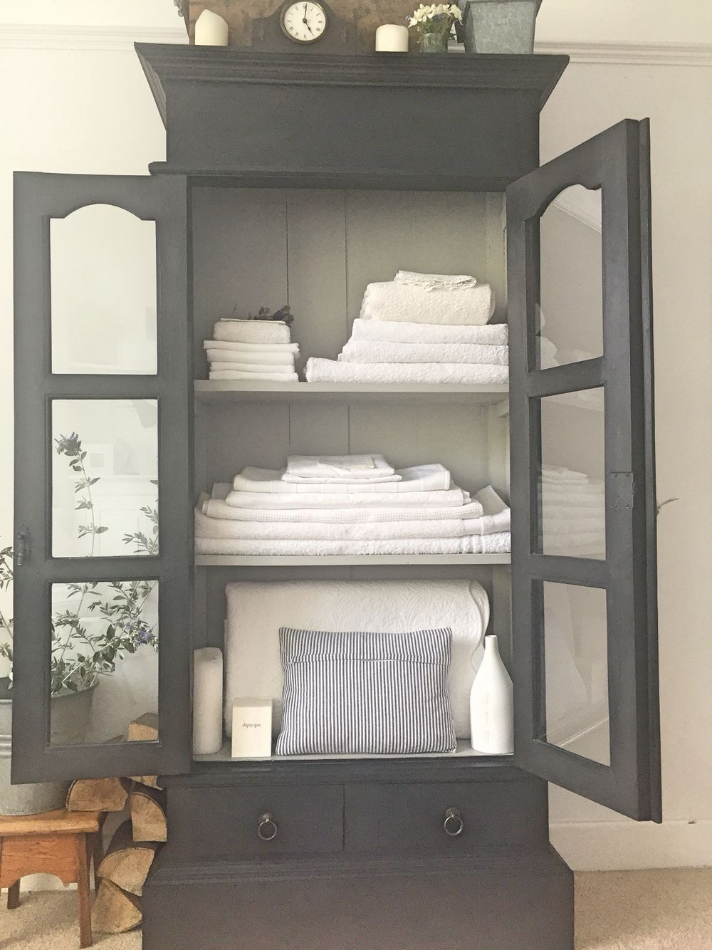 Linen Storage Charcoal And Dove Grey Www Livedandloved Co Uk Linen Storage Cabinet Cabinet Furniture Furniture