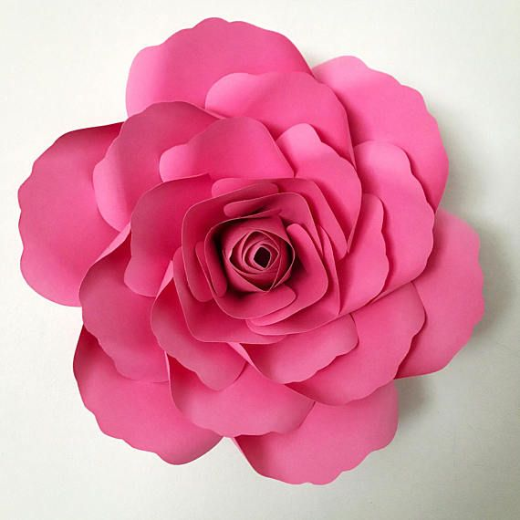 Paper Flowers PDF Petal 14 Paper Flower Template With Base