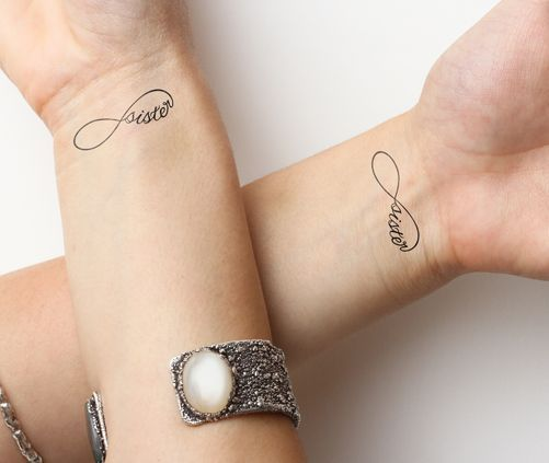 Small Infinity Tattoo But With Love And Family Instead Tattoos