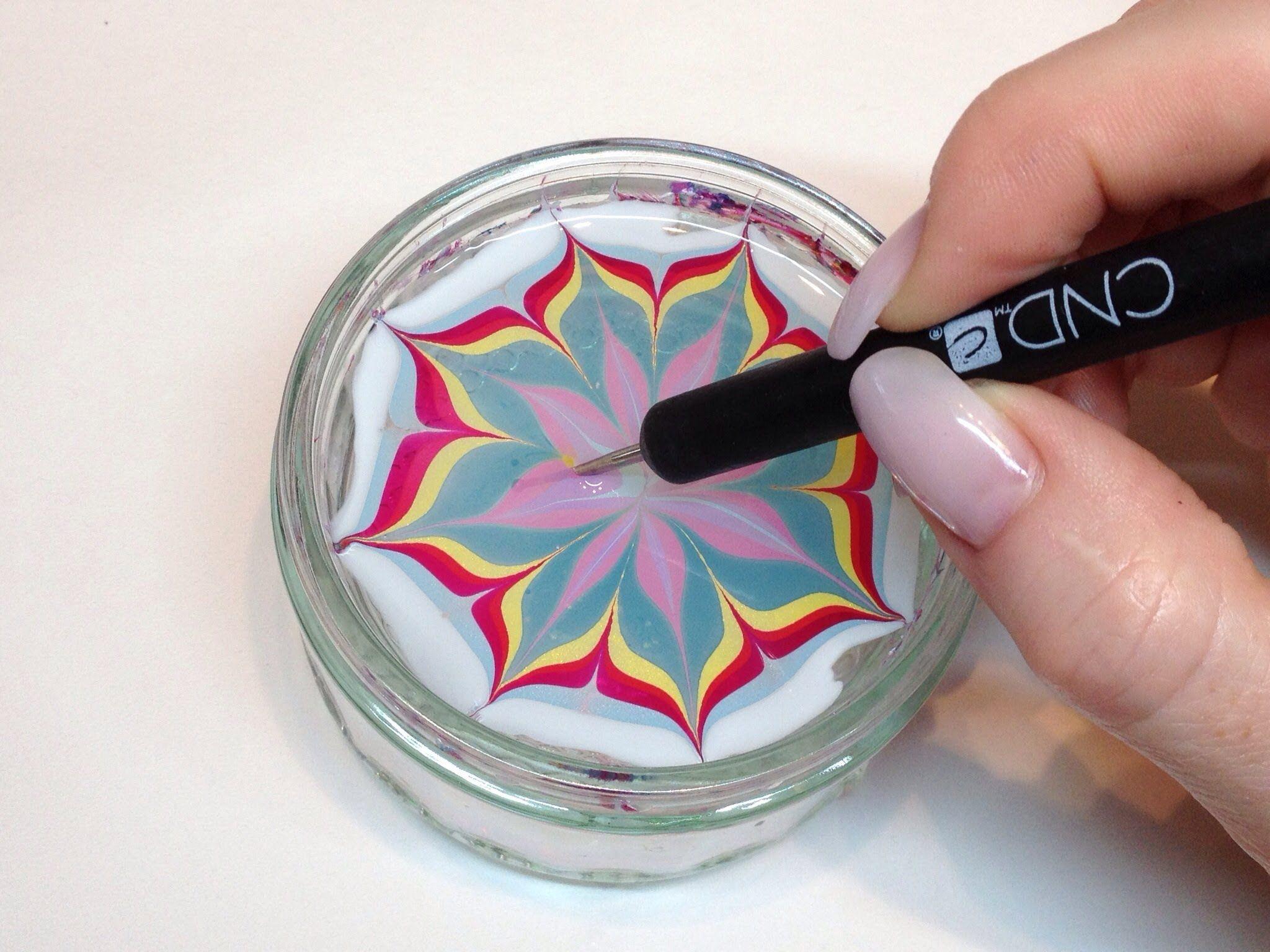 How To Produce Water Marbling Nail Art With Nail Polish Cnd Vinylux Nail Art Videos Nail Art Tutorial Diy Nails