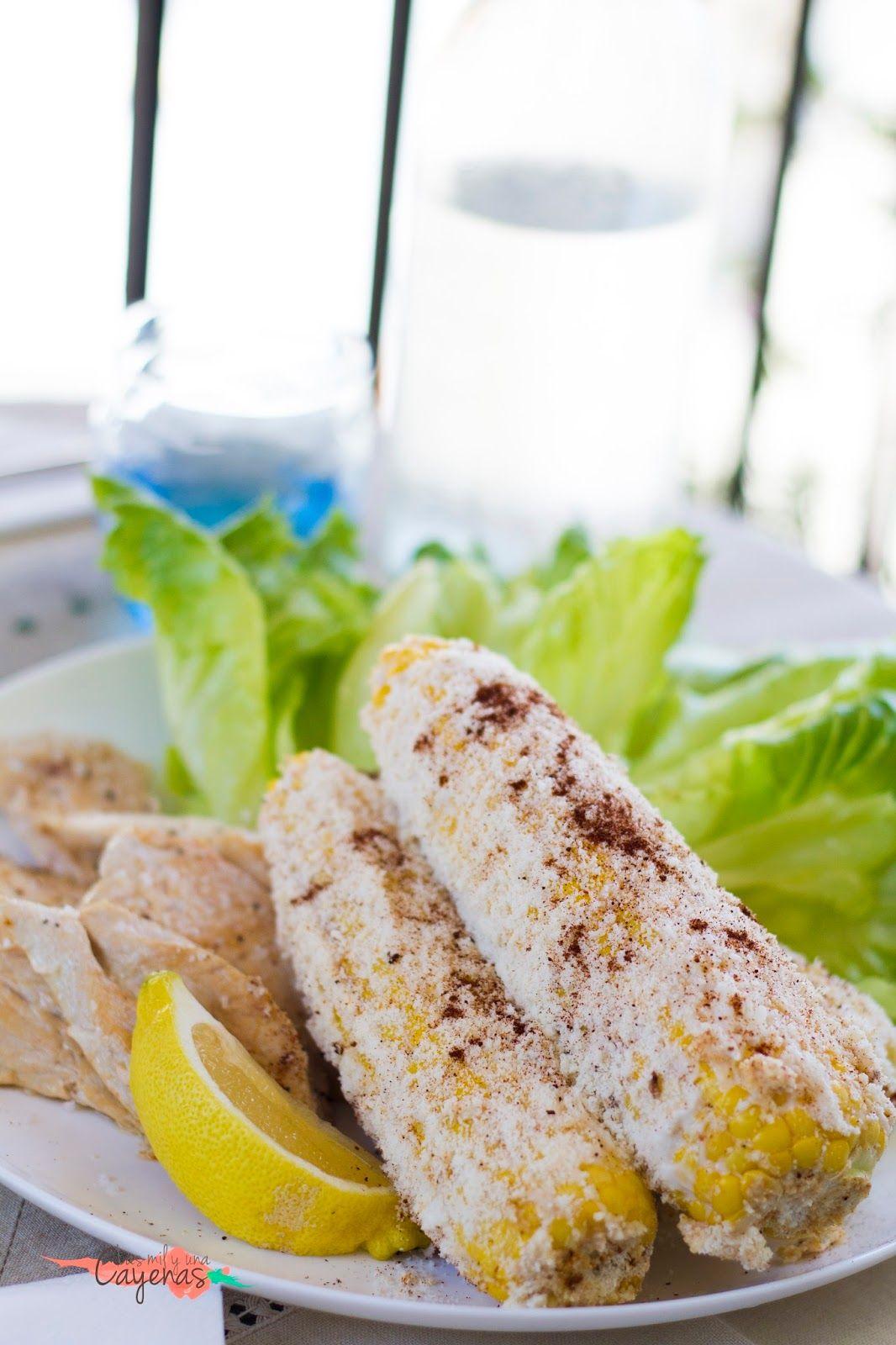 RECIPE | RECETA Elotes / Mazorcas de maiz con mayonesa y queso.