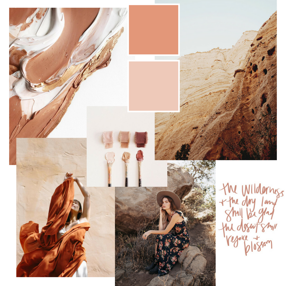 Desert Song Inspiration Mood Board