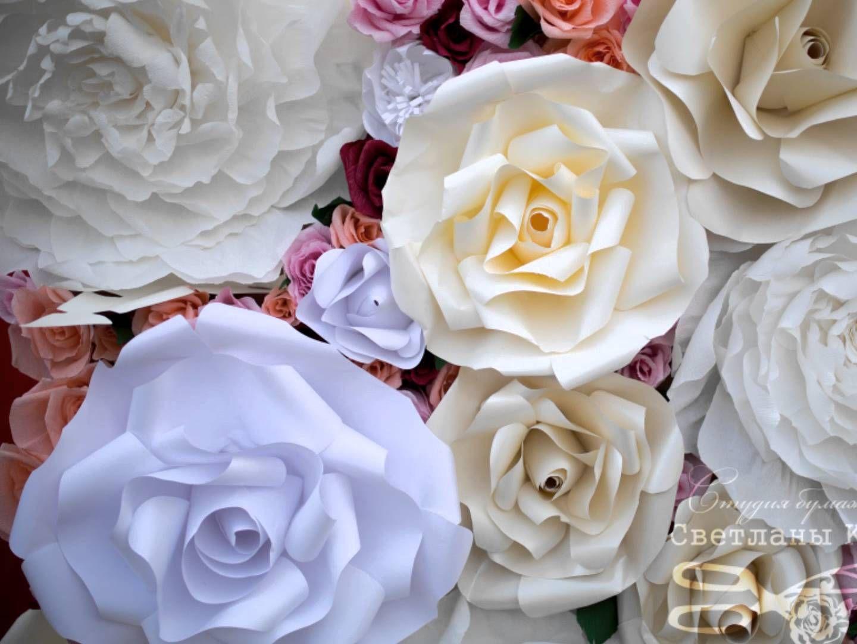 Большие цветы из изолона мастер класс