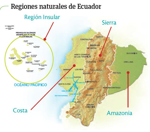 Mapa De Las Cuatro Regiones Del Ecuador Map Screenshot Ccnn Discover