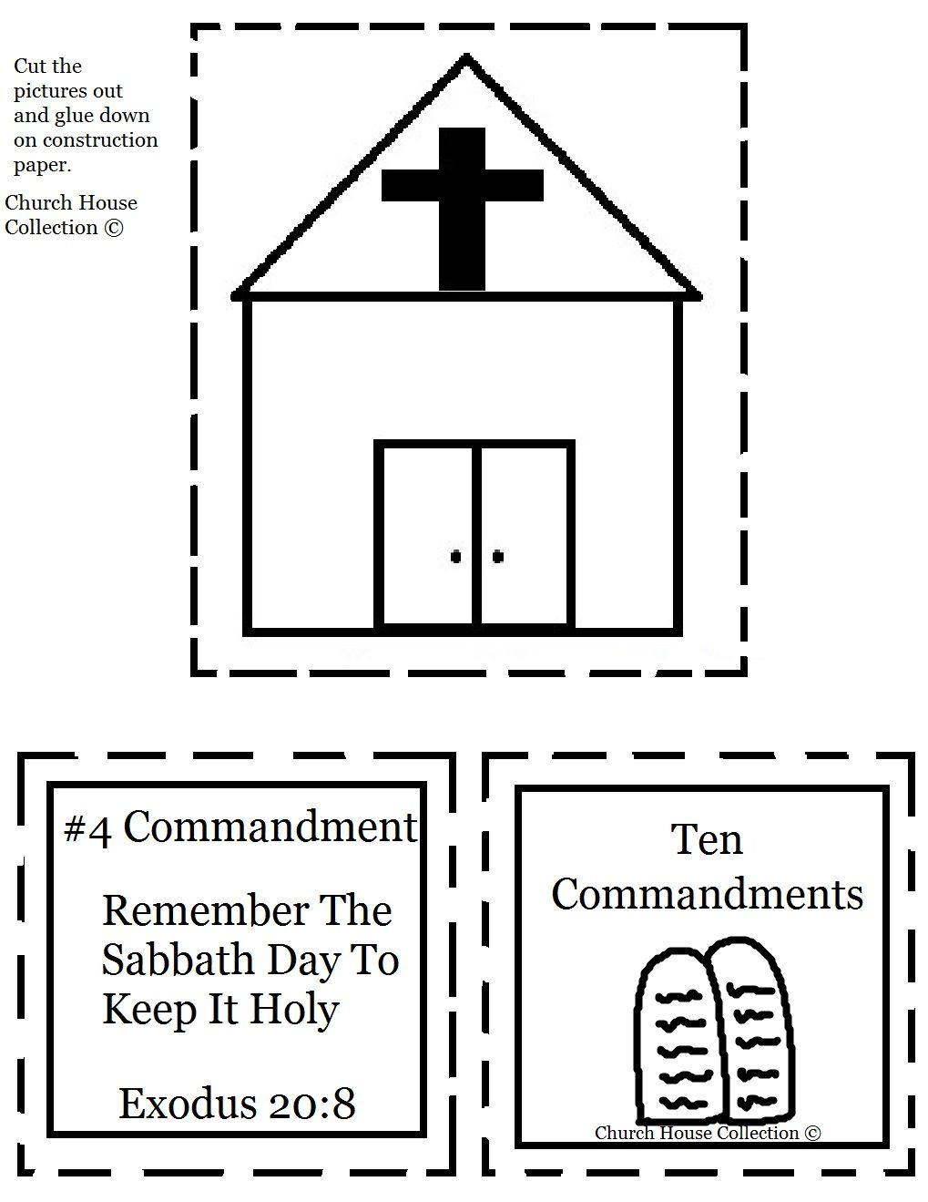 Remember The Sabbath Day To Keep It Holy Cut Out Sheet For Ten Commandments