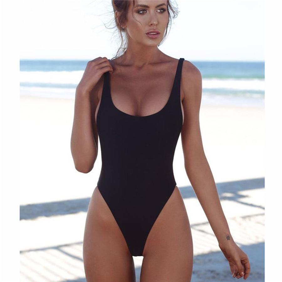 53f8d501db583 Slimming Sporty One Piece Cheeky Monokini for Teens - Hot Beach 2018 High  Cut Scoop Backless Swimsuit for Women - traje de baño deportivo de una  pieza para ...