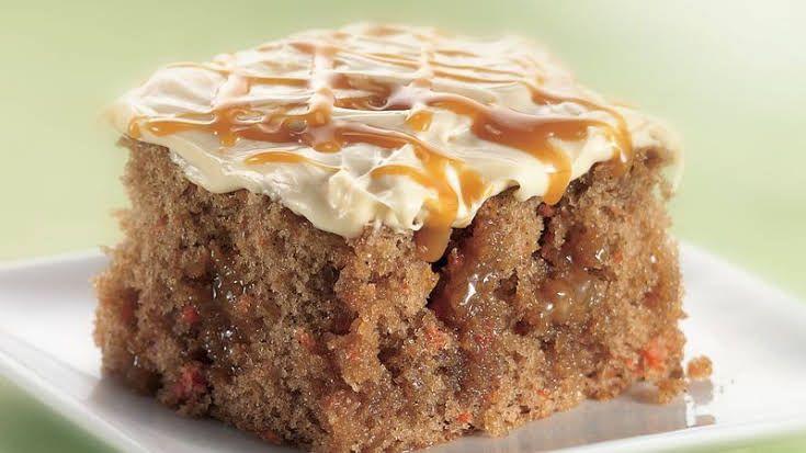 Better than eastercarrot cake poke cake with cake