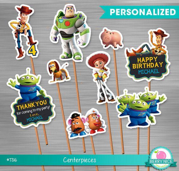 Toy Story centros de mesa pequeños por berryniceprintables en Etsy