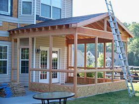Shea custom screened in porch addition porch decks for Shea custom home plans