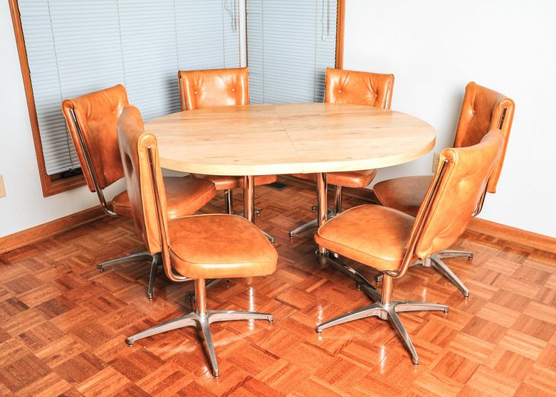 atomic mid century modern chromcraft kitchen table and chairs - Chromcraft Dining Room Furniture