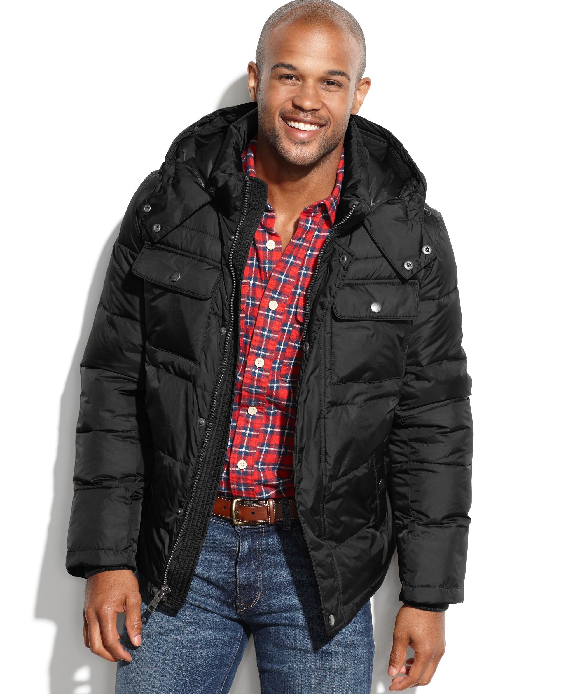 Tommy Hilfiger Puffer Coat with Removable Hood Mens