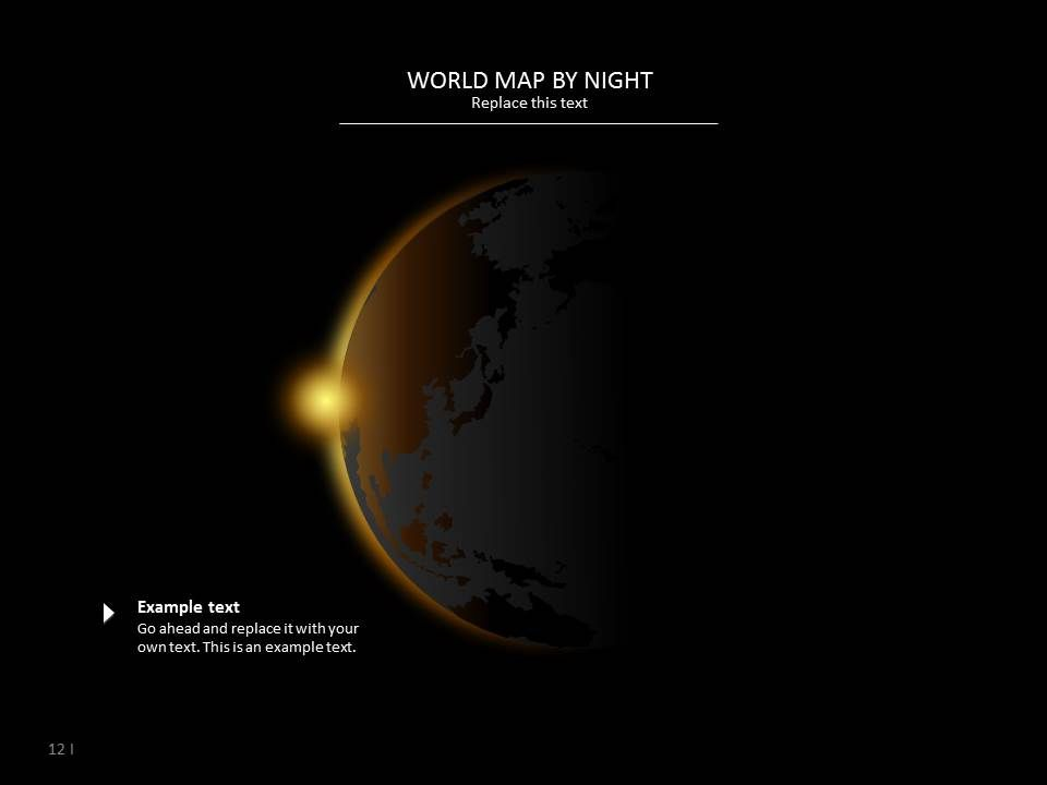 World map by night presentation template design earth powerpoint world map by night presentation template design gumiabroncs Images