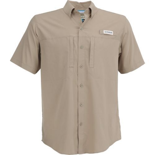 10fda5070d The Magellan Outdoors™ Men's Falcon Bay Short Sleeve Fishing Shirt is made  of 100% ripstop polyester and features moisture-wicking fabric technology.