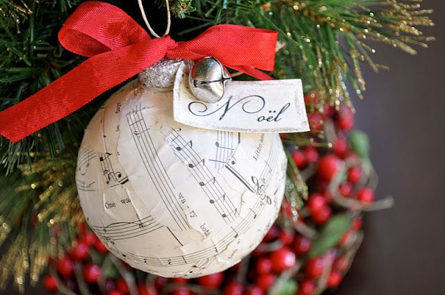 Musical Tree Ornament Not Really But It S Cute Music Christmas Ornaments Sheet Music Ornaments Christmas Ornaments To Make
