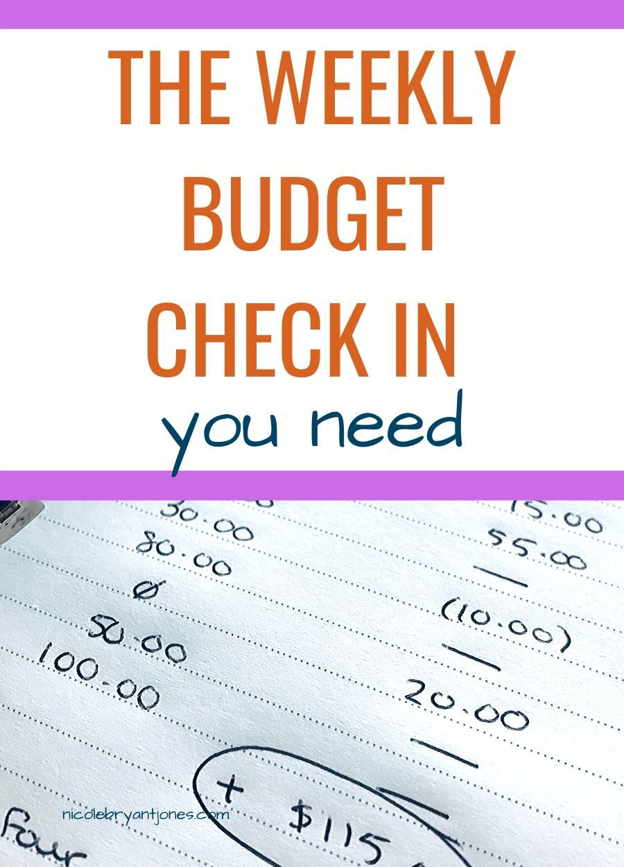 The Weekly Budget Check In You Need Budgeting Weekly Budget Money Management Activities