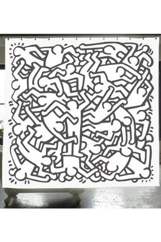 Izola Keith Haring Artist Series Shower Curtain Keith Haring Art