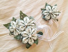 Money corsage boutonniere set perfect for your special event beautiful money corsage and money boutonniere made with money flowers perfect for graduations proms mightylinksfo