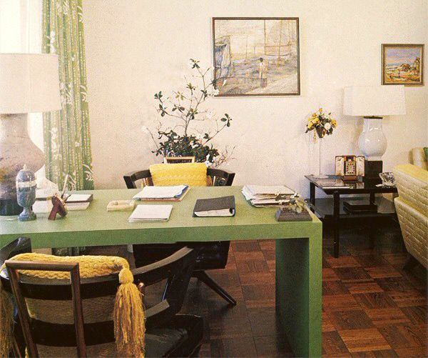 Her Office And Den In The Imperial House Apartment Crawford House Joan Crawford Home Decor